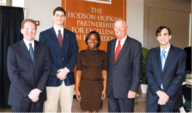 photo of Hodson Scholars and James H. Gilliam Sr. and Linda GJ. Gilliam